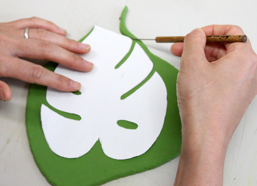 How To Make Leaf Stem Effect Acrylic Painting